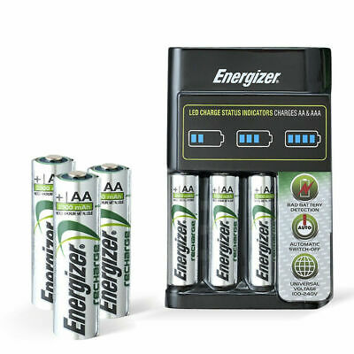 Energizer Recharge Battery Charger Plus 4 AA Battery