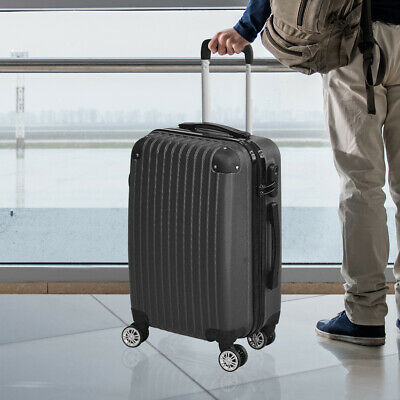 """24"""" Cabin Luggage Suitcase Code Lock Hard Shell Travel Case Carry On Bag Trolley"""