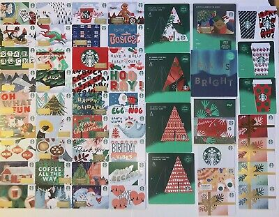 53 New Starbucks 2019 Christmas 🎄 Holiday Gift Cards