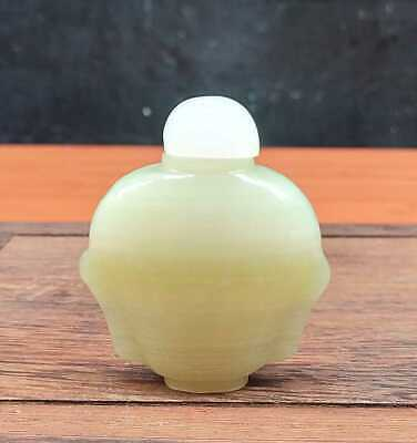 Chinese Natural Jade Handmade Carved Exquisite Snuff Bottles 005