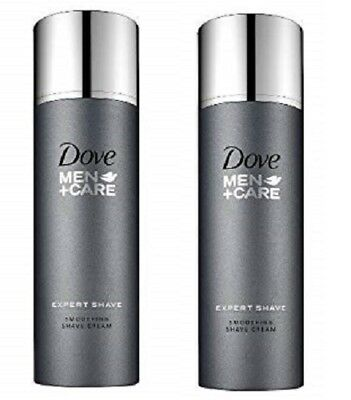 Lot of 2 New Sealed Dove Men Care Expert Shave Smoothing Shave Cream ***READ***