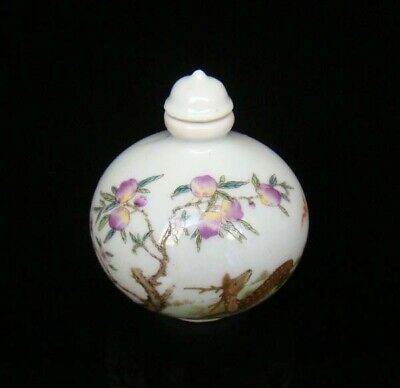 Collectible 100% Handmade Painting Porcelain Snuff Bottles Deer 07
