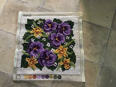 Semco Completed Cross Stitch Cushion Cover