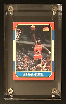 1986 -1987 Fleer Michael Jordan Chicago Bulls # 57 Basketball Card Rookie