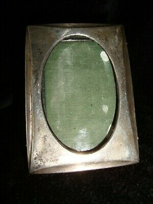 Solid Sterling Silver Antique Miniature Picture Frame - Henry Williamson 1917