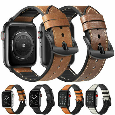 For Apple Watch Series 5 4 3 2 1 Genuine Leather iWatch Band Strap 38/42/40/44mm