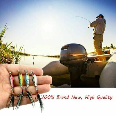 4pcs Mini Leaden Fishing Lures Bass CrankBait Crank Tackle Hook Bait New O5 M8V7