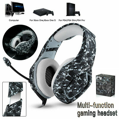 For PC Laptop PS4 Slim One S X Pro Xbox K1 ONIKUMA Gaming Headset Mic Headphones