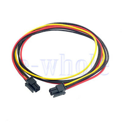 ATX Micro Fit Connector 4Pin Male to Male Motherboard Power Line Cable 60cm WS