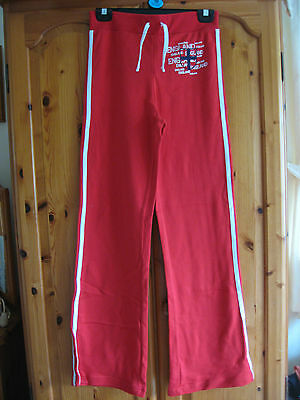 New Girl's Clothes Red England Tracksuit Bottoms Jogging Trousers Age 13 Years