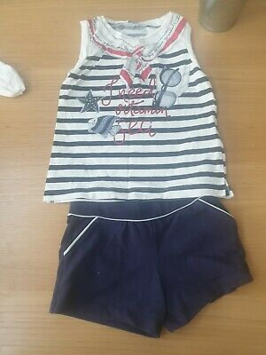 Mayoral Girls Summer Shorts Top Set Age 6 Years