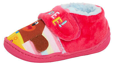 Girls Hey Duggee Slippers Kids Character Fur Lined House Shoes Toddlers Booties