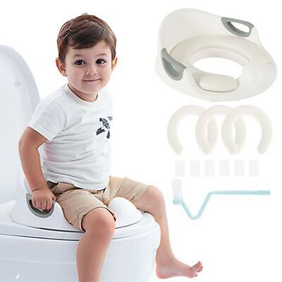 Kids Toilet Baby Toddler Training Toilet Potty Seat Non Slip Trainer With 2 Pads