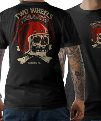 Camiseta de Ciclista Oldschool Motocicleta Chopper Custom Atornillador Wrench Mc