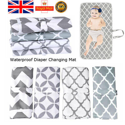 Waterproof Baby Travel Nappy Diaper Changing Mat Portable Foldable Washable Pad
