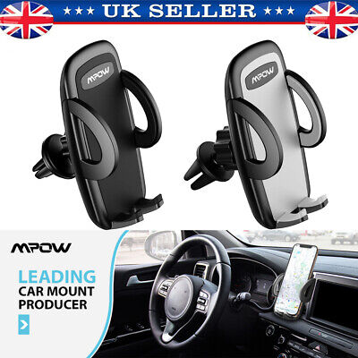 MPOW 040 Universal Adjustable Phone Holder In Car Air Vent Mount Cradle Stand UK