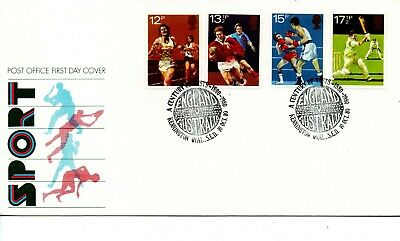 GB - FIRST DAY COVER - FDC - Commems. -1980- Sport Century of Test  U/A Pmk Oval