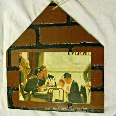 """Norman Rockwell """"Saying Grace"""" House Plaque Hanging Wooden Primitive Home Decor"""