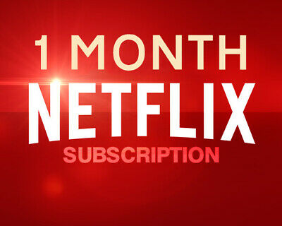 Netflix Gift And Warranty: 4 Screens / 4K UltraHD / 1 Month / Personal / Private