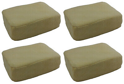 4 (Four) x LARGE Chamois Leather Sponge Pad For Demisting Car Windows