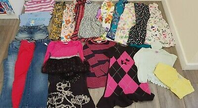 GIRLS CLOTHES BUNDLE- Age 5-6- Monsoon, Next, M&S+ -Dresses Tops Jeans- 22 Items