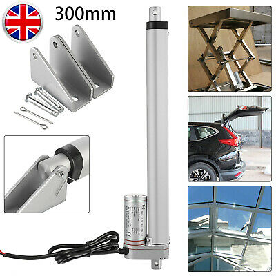 UK 12V DC Electric Linear Actuator 1500N 330 Lbs 100/200/300mm Motor Switch IP65