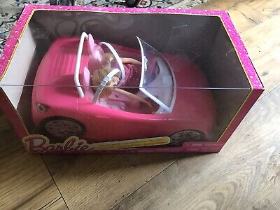 3+ Girls Barbie Pink Glam Play Convertible Car