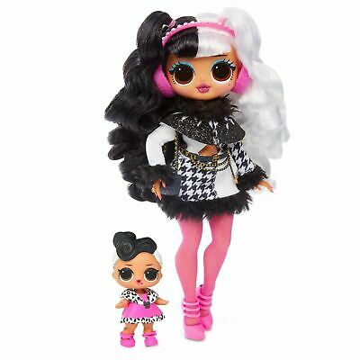 LOL Surprise Dollie OMG Fashion Doll and Dollface Sister Winter Disco, New