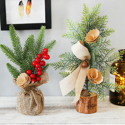 Ornament Christmas Tree Artificial Flowers Potted Plants Crafts Simulation Hotel