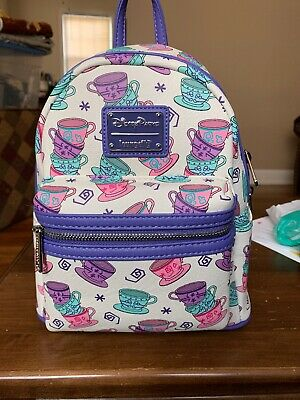 Loungefly Disney Parks Alice in Wonderland Teacups Mini Back Pack New w/ Tags