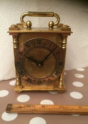 smiths electric brass engraved carriage clock