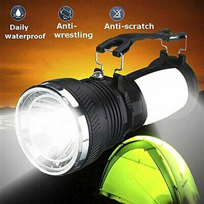 Solar Charge Camping LED Light Outdoor Rechargeable Flashlight Lantern Torch UK