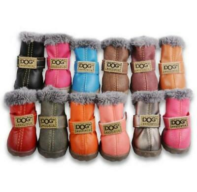 4 Waterproof Pet Shoes Winter Dog Cat Snow Boot Warm Puppy Booties for Chihuahua