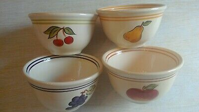 Tabletops Lifestyles Simple Fruit Cereal Or Soup Bowls Set  Of 4