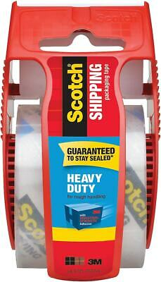 """Scotch Heavy Duty Shipping Packing Tape with Dispenser 1.88""""W x 22.2 Yards"""