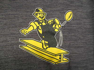 Majestic Pittsburgh Steelers Football Old Style Logo Gray Polo Shirt Size Large