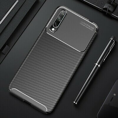 Shockproof Rubber Carbon Fiber Fibre Case For Huawei Honor 20 Mate 30 P30 Cover