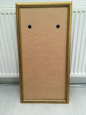 Vintage Large Solid Wooden Ornate Gold Empty Picture Frame  78.5 cm X 40.5 cm