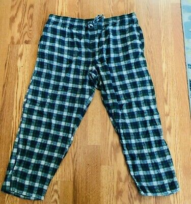 Men's Faded Glory  Lounge  Pants, XL Flannel Plaid ,Green, Navy , & White
