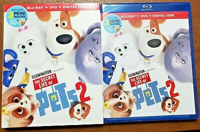 NEW SEALED The Secret Life of Pets 2 (Blu-ray + DVD + Digital w/Slipcover)