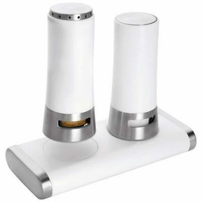 Lacor Salt and Pepper Cruet Set, Stainless Steel, White, 30 x 30 x 30 cm