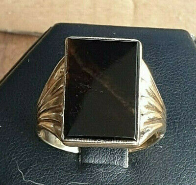 9ct Yellow Gold Rare Deco Tall Ring Size U 1/2 US 10.50 6.05g Superb No Reserve