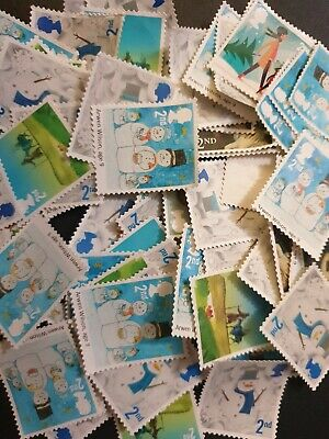 500 2nd class christmas stamps unfranked off paper no gum