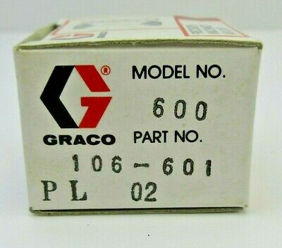 GRACO 106-601 Air Cap Stainless Steel for Model 600 - NIB