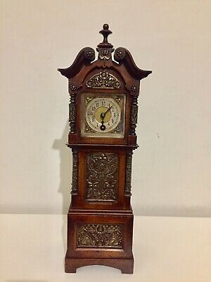 Stunning Antique Miniature Grandfather Clock By Lenzkirch. C1885