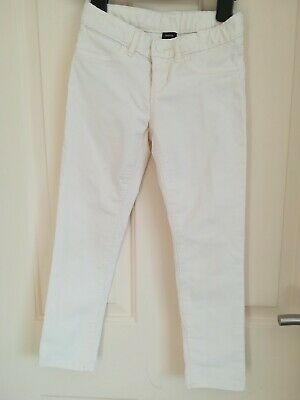 Girls  Gap ivory White cord Jeans Trousers 6-7 yrs Excellent Condition