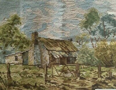Tapestry Canvas to Stitch Tramme Willunga Cottage by Queen Adelaide A2013
