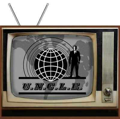 "The Man From UNCLE - Retro TV Display Clear Plastic Picture Box - 8.5""x 11"""
