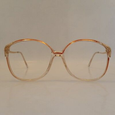 Original Women's Vintage Spectacle Frame Sherry/Gold 80's 52x20 Never Worn