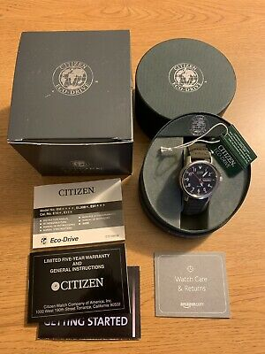 Citizen Eco-Drive BM8180-03E Men's Black Field Military Watch 37mm Lume Chandler